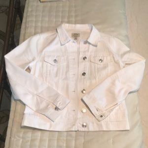 JCrew White Denim Jacket